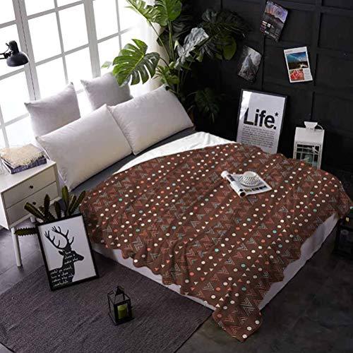 shirlyhome Bed Blanket Tribal Air Conditioner Blanket Zig Zag Border Best Gift for Women, Men, Kid, Teen 70x93 Inch