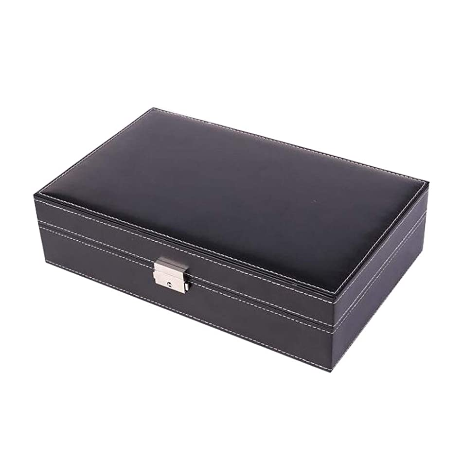 LWT ミラーが付いている時計箱のオルガナイザーの箱の表示および貯蔵の表示宝石類の時計リング