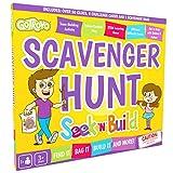 Scavenger Hunt ゲーム 子供用 GoTrovo Seek'n'Build 屋内屋外用検索ゲーム。 2色のバッグ入りで、宝物を集めたり、試したり、芸術的でクリエイティブなチャレンジカードも付いています。