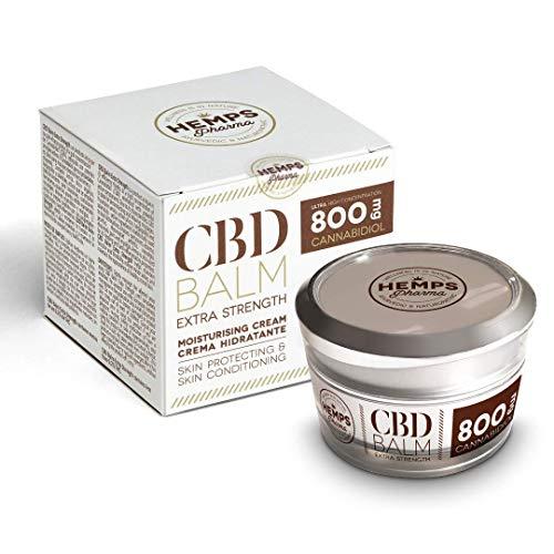 Zeer Effectieve Hennep Crème | CBD-crème (800 mg Cannabidiol) voor de Verlichting van Spierpijn en Gewrichtspijn - 50 ml | Hemps Pharma - CBD Balm Extra Strength