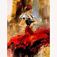 DIY 5D Diamond Painting Kits for Adults Passion dancer Diamond Art Kits for Adults Paint with Diamonds Painting Cross Stitch Home Wall Decor Gift 40x50cm