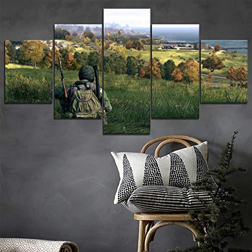 Spiel Dayz Soldat Malerei Moderne Beliebte Dekorative Wandkunstwerk Hohe Qualität Leinwanddruck 5 Panel Modularen Stil Bild(size 3)