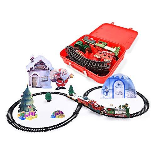GWHW Juego de tren de Navidad - Alrededor del árbol de Navidad,...