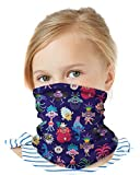 Dreamworks Girls Trolls Gaiter Face Mask with UV Sun Protection, Size 4-14, Trolls