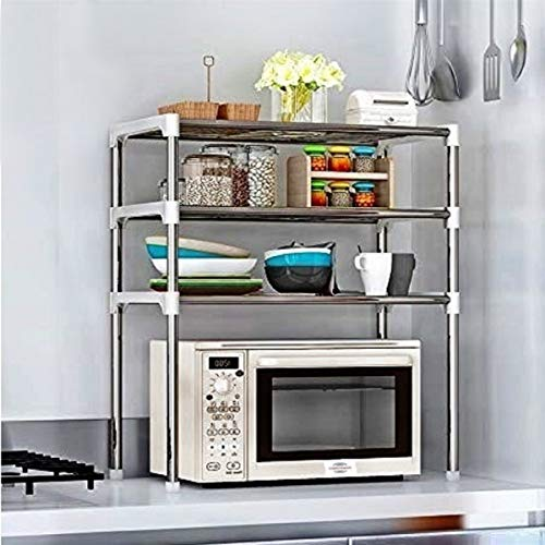 Cmerchants Smart Buy 3 Rack Kitchen Cabinet Rack for Kitchen Utility