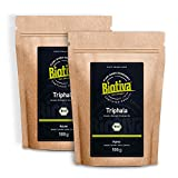 Triphala Bio Pulver 1000g (2x500g) - aus Amalaki, Haritaki, Bibhitaki - Ayurveda Biotriphala - Abgefüllt und Kontrolliert in Deutschland (DE-ÖKO-005) - 100% Vegan