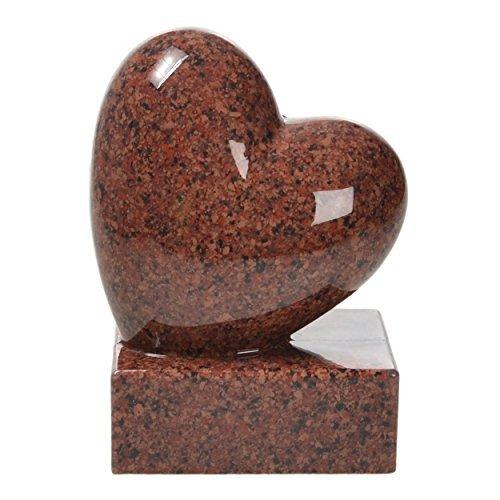 pajubo Tomba di Decorazioni-Cuore in Presa Altezza 17,5cm Resina Sintetica Replica di Granito - Vanga