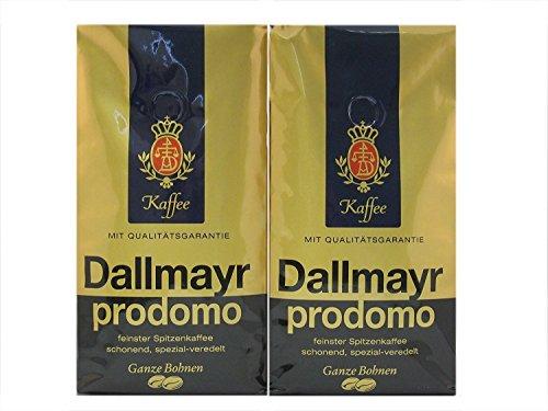 Dallmayr Prodomo Whole Beans Coffee 2 Packs X 17.6oz/500g (Pack of 2)