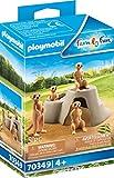 Playmobil Suricates et Rocher Multicolor 70349