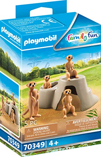 Playmobil Suricates et Rocher Multicolor 70349