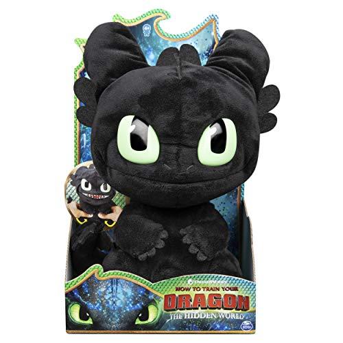 """Dreamworks Dragons Figur """"Toothless"""" quiekt und brüllt, aus Plüsch, 27,9 cm, mit Geräuschen"""