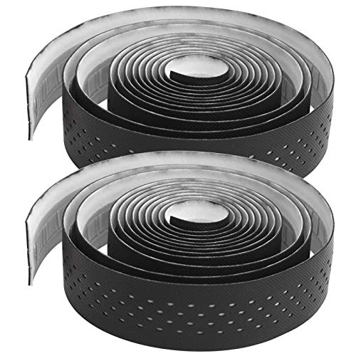 Bnineteenteam 1 Pair Bicycle Handlebar Tape, Road Bike Handlebar Tape with Non-Slip Texture Bicycle Bar Tape Cycling Bar Tape(Black & White)