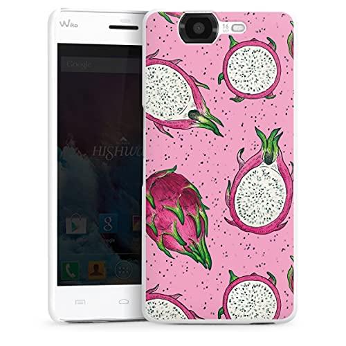 DeinDesign Hard Hülle kompatibel mit Wiko Highway Schutzhülle weiß Smartphone Backcover Obst Malerei Früchte