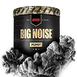 Redcon1 Big Noise Pump Formula (30 Servings) - Non-Stim, Increased Energy and Focus, Vasodilator, Intense Pumps (Unflavored)