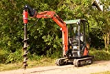 Taladro de tierra para miniexcavadora con o sin accionamiento de perforación, construcción de vallas, caracol MS01 MS03 (taladro de tierra de 300 mm de diámetro con accionamiento de perforación X2000)