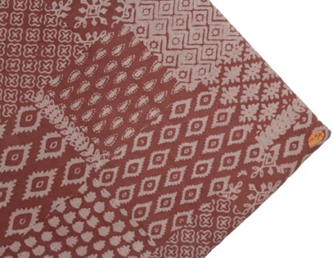 specialty shop Handicraft Hand High material Block Print Printed Waves Cotton Nat