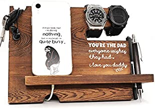 You are The Dad Everyone Wishes They Had -Dad/Father Gifts from Daughter/Son, Birthday/Christmas/Anniversary Wooden Desk Docking Station