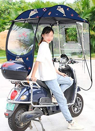 ZYQDRZ Toldo De Motocicleta Completamente Cerrado, Paraguas De Sombrero A Prueba De...