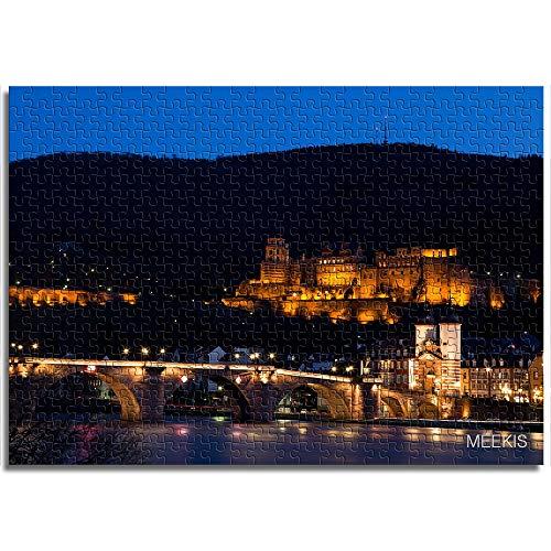 Puzzles para niños DIY Heidelberg de 1000 Piezas por la Noche
