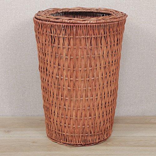 LOVELY Rattan vintage, ménage, papier, papier, panier, cuisine, salon, naturel, herbe, rotin, déchets (Color : Brown, Size : 8L-31.5 * 20CM)