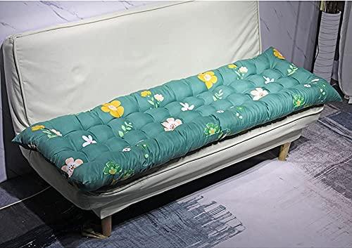 YIYI Cómoda almohadilla de asiento de banco gruesa de 2/3 plazas, cojín largo para sofá de jardín, banco de jardín, cojín de repuesto para muebles de patio para columpio/comedor/tumbona