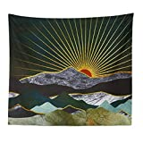 Versión Mejorada tapicería de la Pared Pintada extracto de la Puesta del Sol de la Ballena Montaña Bosque Hippie Mandala Tapiz Paisaje Colgar de la Pared de la Alfombra 8.13