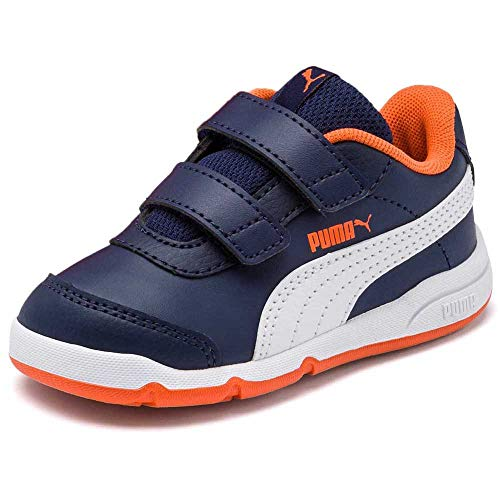 PUMA Jungen Unisex Kinder Stepfleex 2 SL VE V Inf Sneakers, Peacoat White-Firecracker, 20 EU