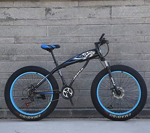 Nieve bicicletas, 26 '/ 24' Big Mountain Bike Rueda, 7 velocidades de doble freno de disco, fuerte con amortiguador delantero Tenedor, al aire libre fuera de la carretera bici de la playa,E,26