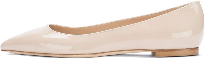 Jocbinltd Original Intention Concise Women Flats Fashion Pointed Toe 4 Seasons Flat shoes Black Nude shoes Woman