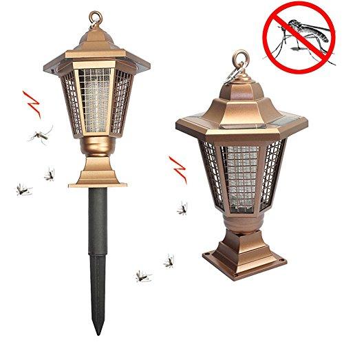 Solarbetriebene LED-UV-Lampe, elektronische Mückenfalle, für den Außen- und Innenbereich, Garten