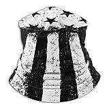 Randy-Shop Fotocopia Negativa Bandera Americana Fleece Neck Warmer Neck Polainas Unisex