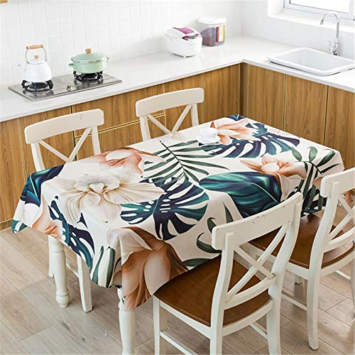 XXDD Mantel de Planta Tropical Mantel Impermeable Mesa de Comedor y Silla Mantel de algodón Cubierta de Mesa de Comedor en casa decoración A2 150x210cm