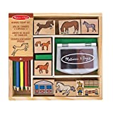 Melissa & Doug- Horses Sellos de Madera con Diseños de Caballos, Multicolor (12410) , color/modelo surtido