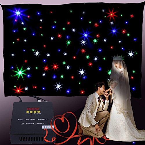 MuGuang 3x2m Cortina DMX cortina led dmx RGB 108pc LED Teló