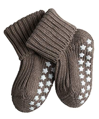 FALKE Baby Socken Catspads Cotton, 1 Paar, Braun (Pebble 5810), 74-80