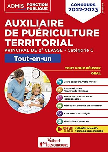 Concours Auxiliaire de puériculture territorial - Catégorie C - Tout-en-un: Concours 2022-2023 (2021)