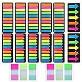 VEGCOO Segnapagina Etichette Adesive Scrivibile Etichette, 2400 Pezzi Scrivibile Etichette Linguette Segnapagina Adesivi Colorati Marcatore Segnalibri (A)
