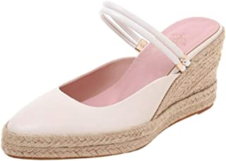 Zanpa Women Fashion Weaving Wedge High Heels Mules