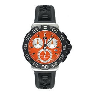 TAG Heuer Men's CAH1113.BT0714 Formula 1 Collection Chronograph Black Rubber Watch image