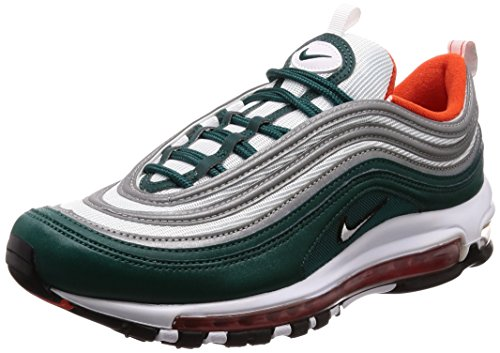 Nike Air MAX 97, Zapatillas de Gimnasia para Hombre, Verde (Rainforest/White/Team Orange/Black 300), 47 EU