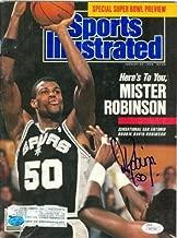 David Robinson autographed Sports Illustrated Magazine (San Antonio Spurs) (JSA Witnessed Authentication W577801)