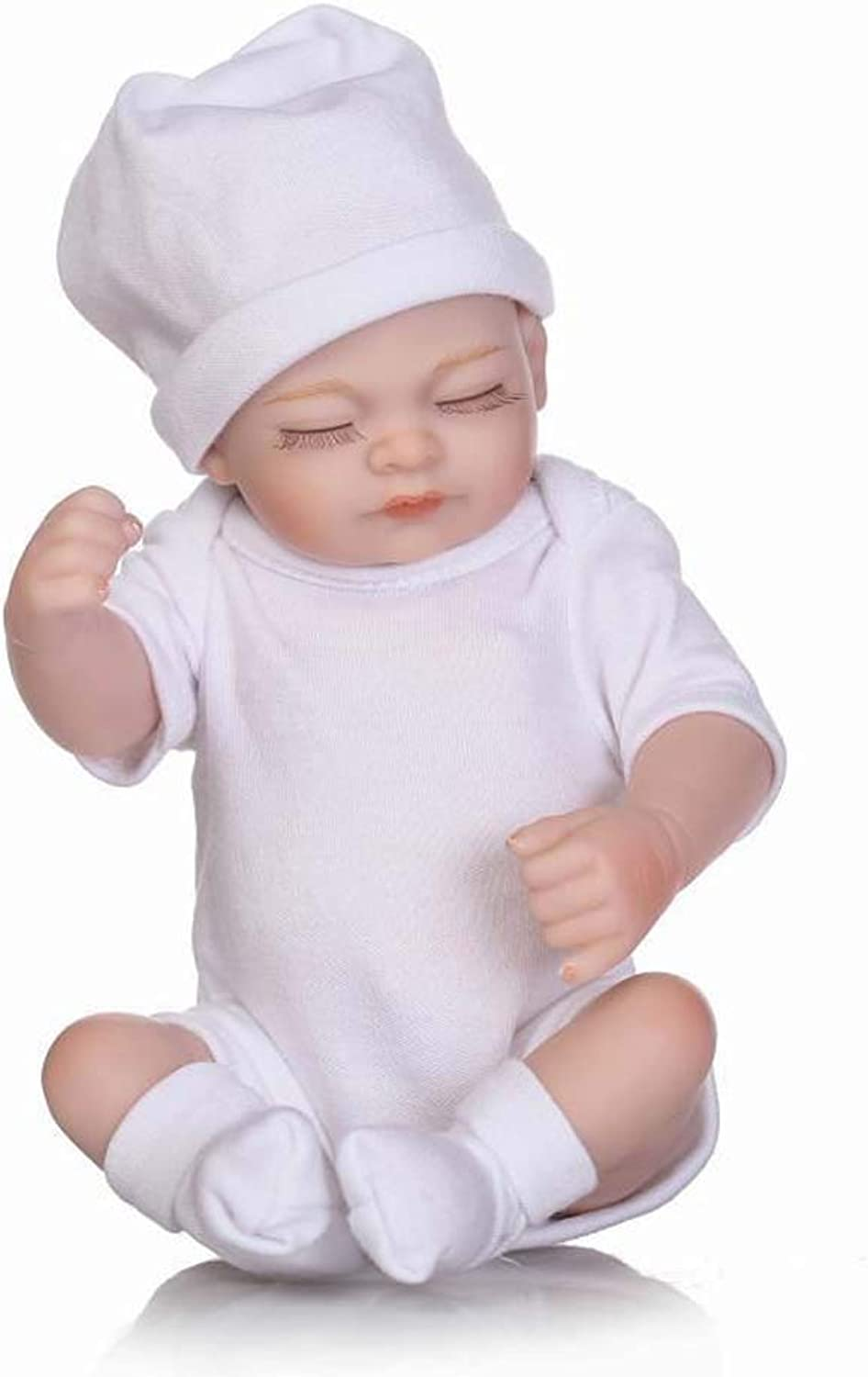 Reborn Baby Dolls Sleeping Baby Look Real White Outfit 10 Inches (26Cm)