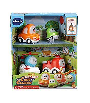 VTech Toot-Toot Drivers Cory Carson Starter Pack, Toy Kids Car with Sounds and Phrases, Light Up Baby Music Toy, Car Sets for Boys and Girls Aged 2, 3, 4, 5 Years+ from Vtech