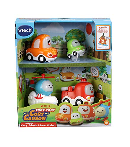 VTech Toot-Toot Drivers Cory Carson Starter Pack, Toy Kids Car with Sounds and Phrases, Light Up Baby Music Toy, Car Sets for Boys and Girls Aged 2, 3, 4, 5 Years+