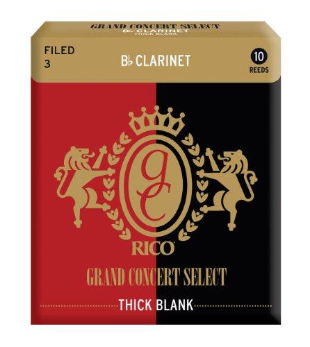 D'Addario Woodwinds『グランドコンサートセレクト シックブランク(ファイルド・カット) B♭クラリネット 3(RGT10BCL300)』