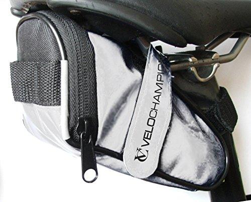 VeloChampion Slick Bike Seat Pack - White