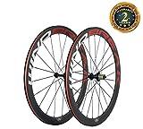 WINDBREAK BIKE 700C 50mm Clincher Full Carbon Fiber Spoke Bicycle Wheel with Matte finish