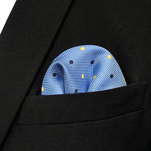 SLATIOM Negocio Multicolor Pocket Mens Clásico Traje Regalo Pañuelo Cheques ACCEOSSORIOS (Color : D, Size : 32x32CM)