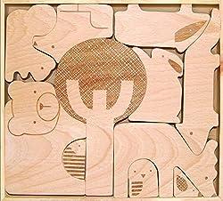 tentree Steelhead Pullover Hoodie - Petit Collage Wood Puzzle