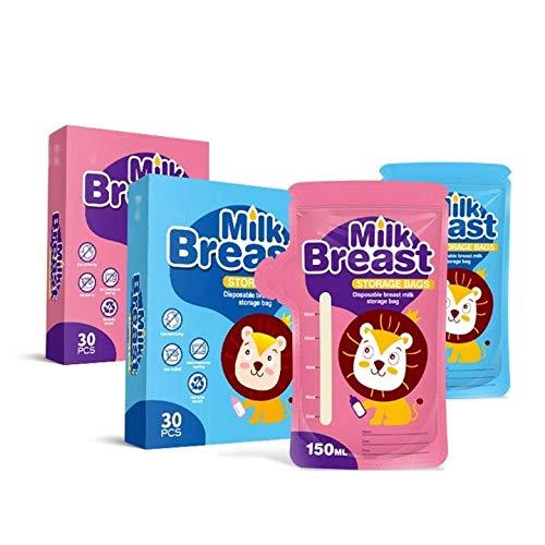 D88, 30 bolsas para congelador de leche de 150 ml para madre y almacenamiento de alimentos L9CD